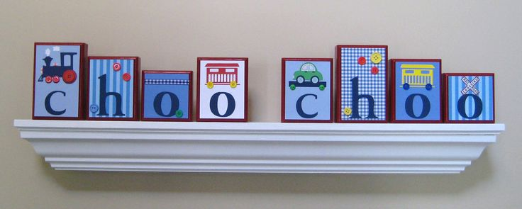 Name Blocks . Routed Edge Blocks . Nursery Name Blocks . Nursery Decor . Baby Name Blocks . Wood Name Blocks . Train . choo choo by OhMyButtonsAndBows on Etsy https://www.etsy.com/listing/75370676/name-blocks-routed-edge-blocks-nursery