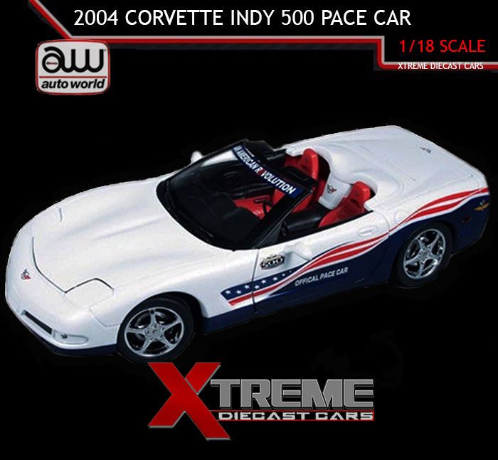 2004 Chevrolet Corvette Indy 500 Pace Car 1:18 Auto World AW204