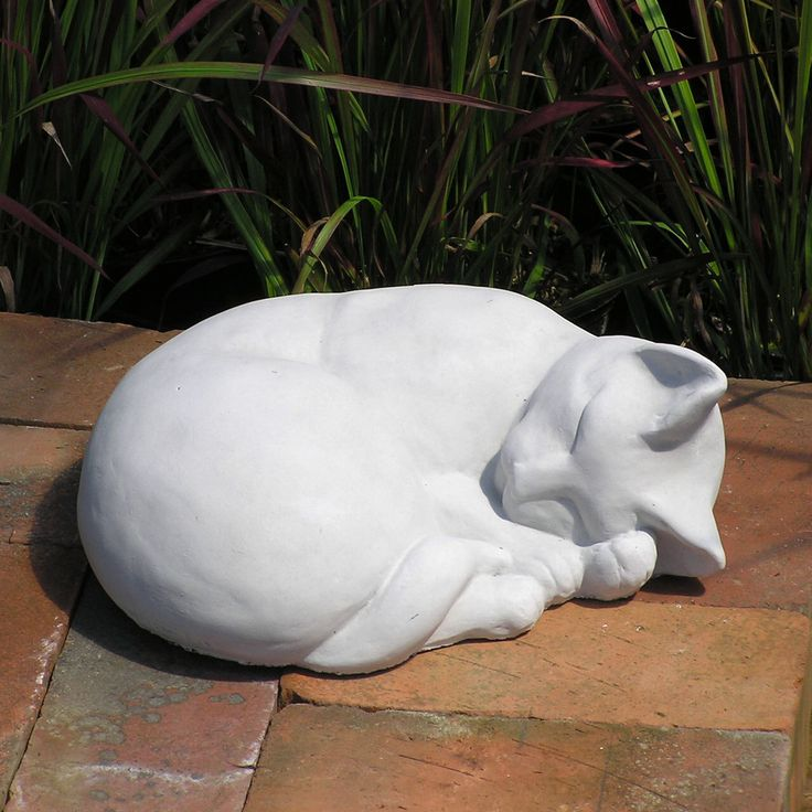 Classic Sleeping Cat Cement Garden Statue GNCCS by FairyDreamGarden on Etsy https://www.etsy.com/listing/490885443/classic-sleeping-cat-cement-garden