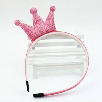 Pembe Simli Prenses Taç - çocuk modası - bebek modası