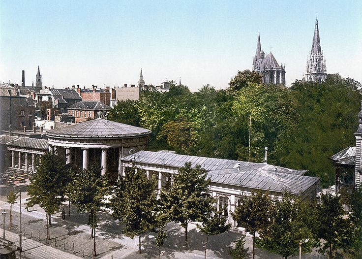 Elise's Fountain, Aachen, the Rhine, Germany, around 1900.