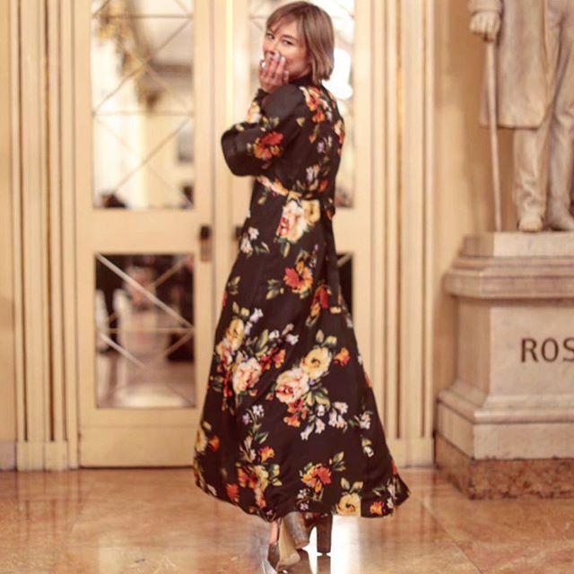 Melampo dress  flowers   fashion blogger