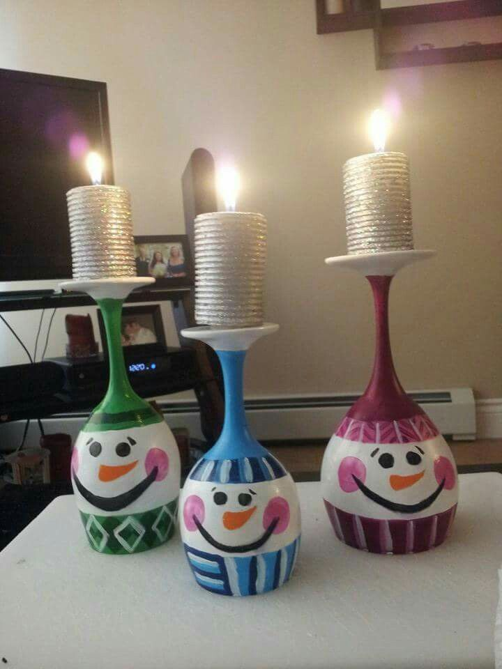 Snowman Wineglasses