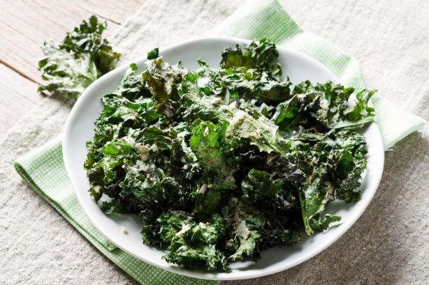 Parmesan and herb kale chips