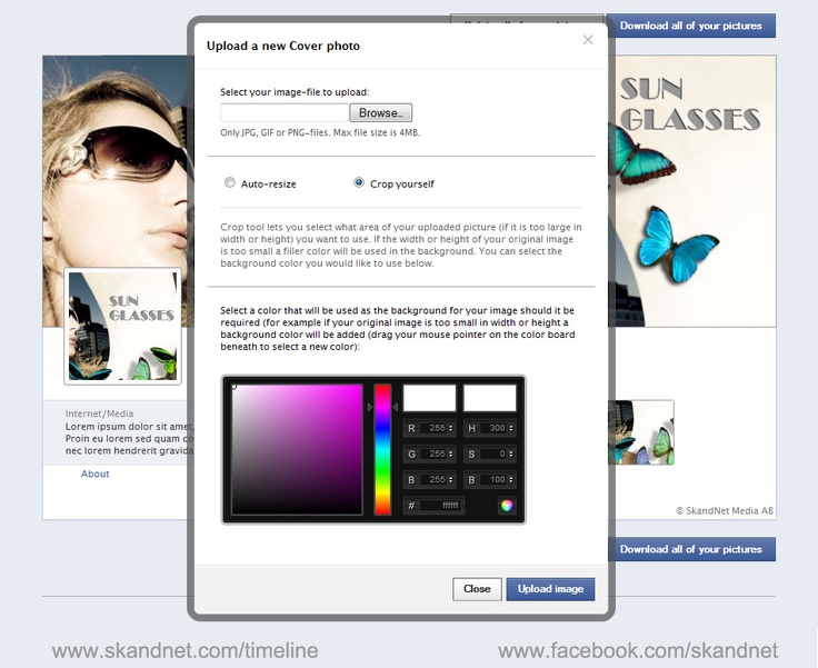Try the Timeline Machine - Editing Tool that creates images to fit your Facebook Page