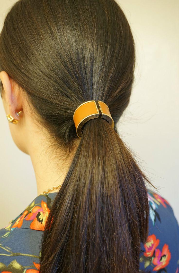 Work-To-Weekend Hairstyle Tutorial: Get a Sleek Office Look with Conair Diamond Infused Ceramic Smoothing Hot Brush