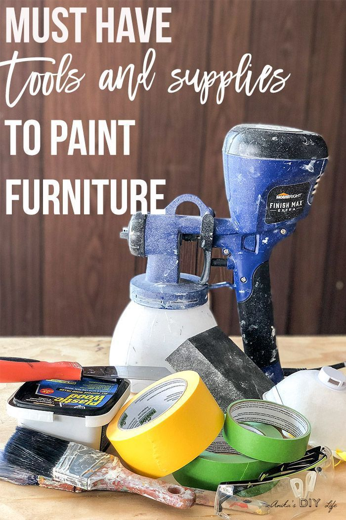 7 Essential Supplies Needed To Paint Furniture Diy Wood Projects