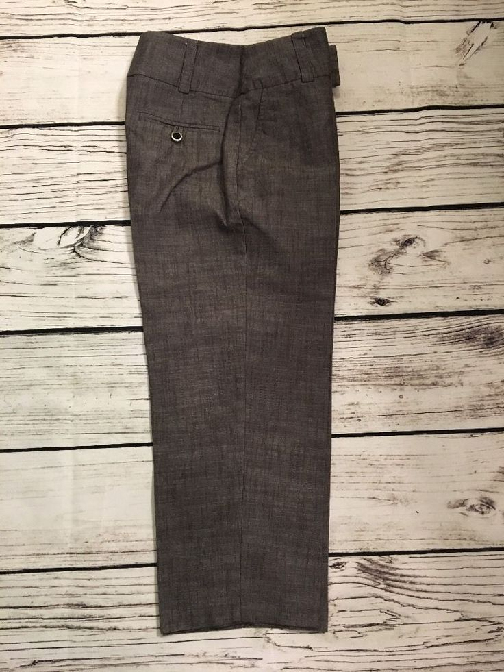 Womens AB Studio dress pant carpi size 4 career work wear brown/gray linned  | eBay
