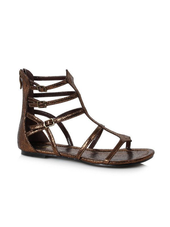 f228435a20759 Check out Womens Bronze Gladiator Style Sandals - Costume Accessories for  2018
