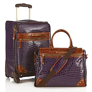 """<3  I NEED this luggage for my trips on the bucket list!  <3  Samantha Brown 21"""" Upright and Doctor's Tote at HSN.com."""