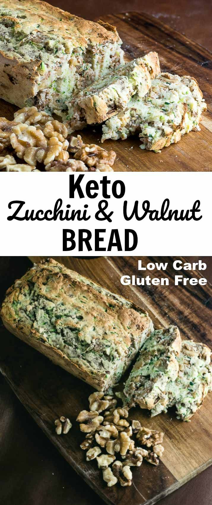 Keto Zucchini and Walnut Bread- Low Carb & Gluten Free