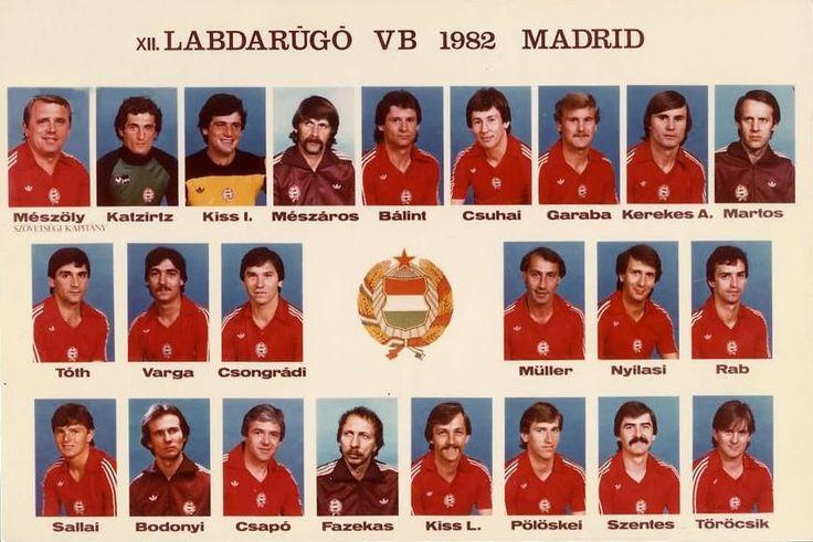 A magyar labdarúgó-válogatott a madridi világbajnokságon, 1982 Hungarian National Football Team, 1982 forrás
