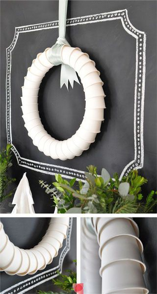 DIY Plastic Cup Wreath - so simple!