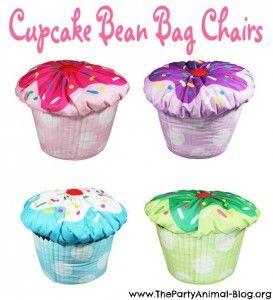 Cupcake Bean Bag Chairs!