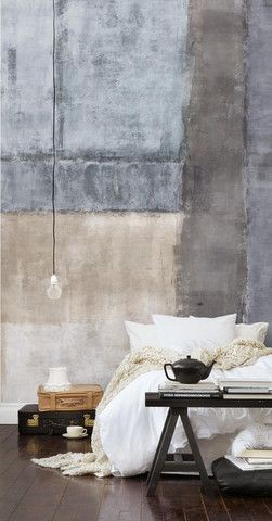 The edginess of industrial decor blended with soft textures and light colors makes for a chic and trendy combination.