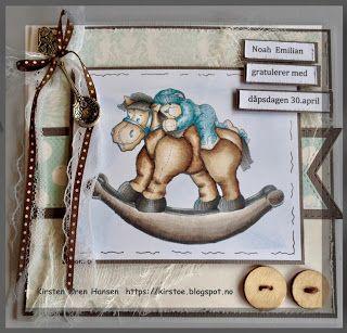 Kirstens Hobbyblogg: Dåpskort.