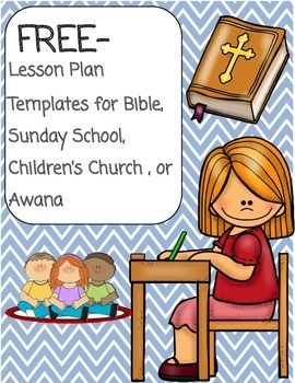 I created this to try to keep my Sunday School, Children's Church, and Awana lesson plans straight. I wanted to develop a print and go template that would allow me to fill in the information from the curriculum the church uses. In the spirit of the church of Acts sharing all they had, I am offering this to you for free.