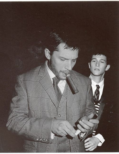 Tom Hardy & Joseph Gordon Levitt  glens plaid 3 piece & a big fat cigarJoseph Gordonlevitt, But, Joseph Gordon Levitt, Cigars, Hot, Tomhardy, Beautiful People, Man, Tom Hardy