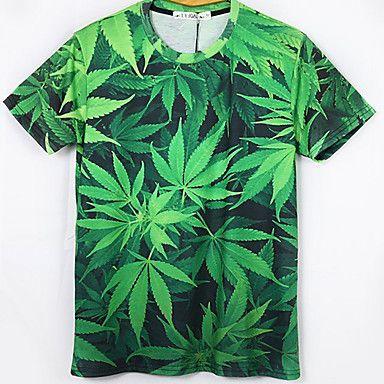 T-Shirts ( Coton mélangé ) Informel Rond à Manches courtes – EUR € 10.99