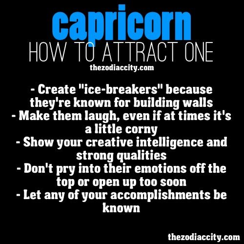 How to interest a capricorn man #2
