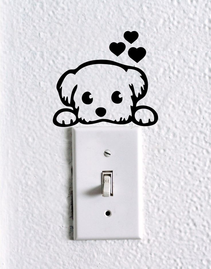 Cute Dog Baby Pet light switch wall decal , dog stickers, cute dog wall vinyl, cute dog nursery wall decal, funny wall decal, car decal by dadavinylsanddesigns on Etsy https://www.etsy.com/listing/399180139/cute-dog-baby-pet-light-switch-wall