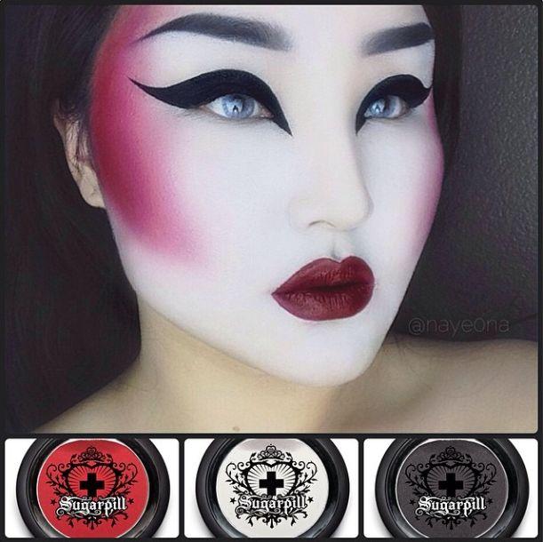 futuristic geisha inspired look using #Sugarpill Love+, Bulletproof and Tako eyeshadows