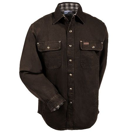 Carhartt Shirts: Men's Cotton Canvas 100590 201 Flannel Lined Shirt Jacket #CarharttClothing #DickiesWorkwear #WolverineBoots #TimberlandProBoots #WolverineSteelToeBoots #SteelToeShoes #WorkBoots #CarharttJackets #WranglerJeans #CarhartBibOveralls #CarharttPants