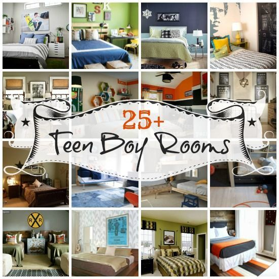 Examples of good design for teen boys is hard to find.  View more than 25 well designed teen boy bedrooms at Remodelaholic.