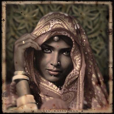 Courtesan. Rajasthan, India (Vintage Photos) by Per-Andre Hoffmann (Thx Caroline)