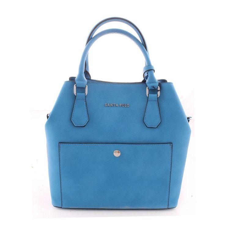 Santa Polo Kadın El Çantası 9607 Mavi |