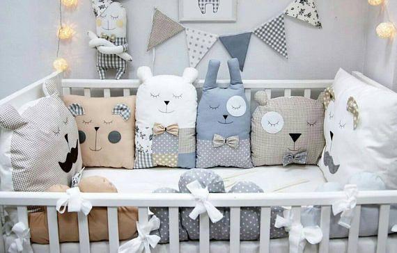 Must Have Baby Cot Bumpers Babykissen Kinder Zimmer Und