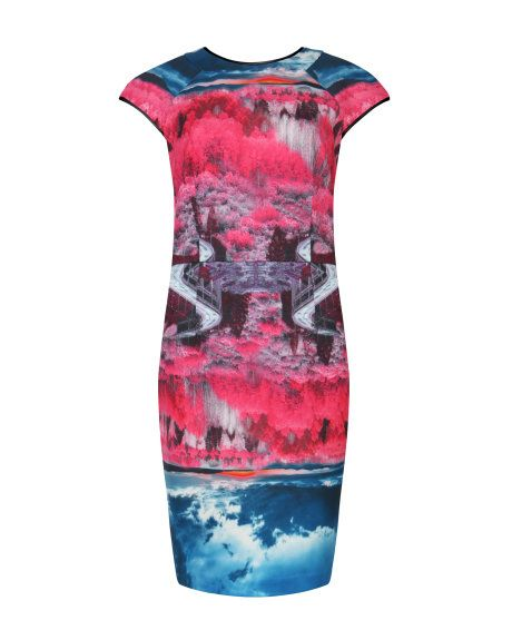 This print!! Road to nowhere print dress - Mid Pink | Dresses | Ted Baker