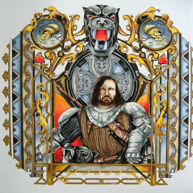 The Hound Coloring Pages Game Of Thrones Game Of Thrones Art