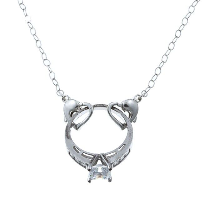 A necklace that allows you to wear your ring when you can't wear it on your finger. I need this for work!!