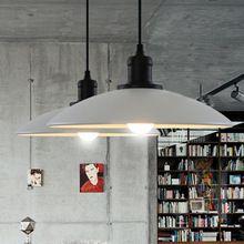 EU RU warehouse Pendant Lights 32cm diameter white and black iron vintage brief foyer dining room lighting lamp(China (Mainland))