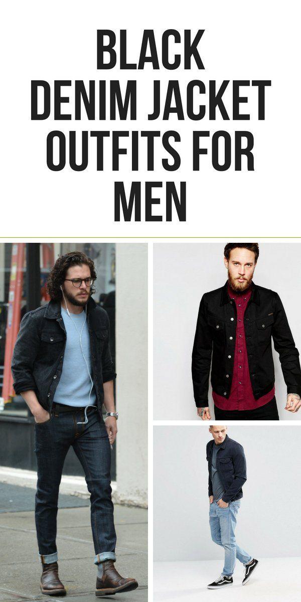 Black Denim Jacket Outfits For Men Black Denim Jacket Outfit Black Denim Jacket Men Denim Jacket Outfit