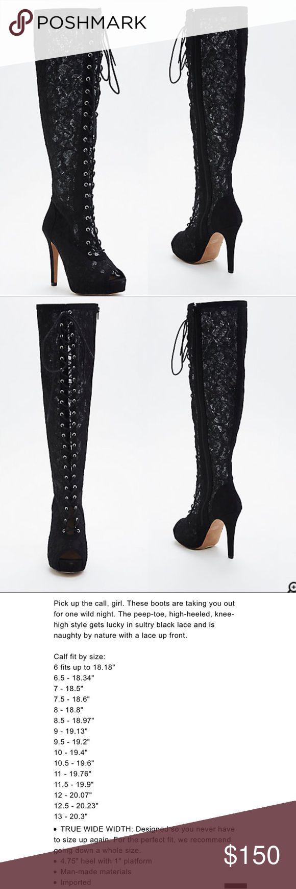 Black Lace Up Heels Torrid Black Lace Heels NEW W/O Box Tag on bottom of Heels Torrid Shoes Heels