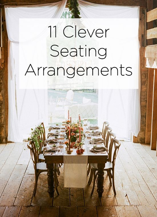 11 clever seating arrangements!