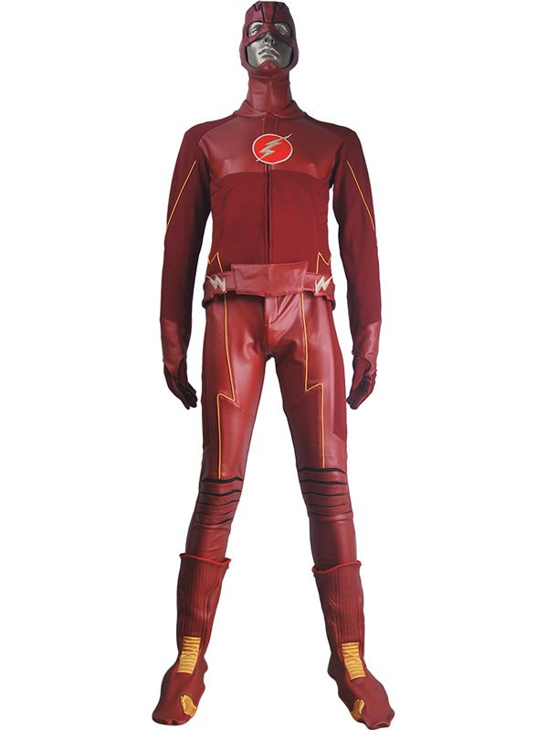 Men Boys The Flash Season 4 Barry Allen Flash cosplay costume Justice League outfit halloween costume Superhero suit xmas birthday gift toys