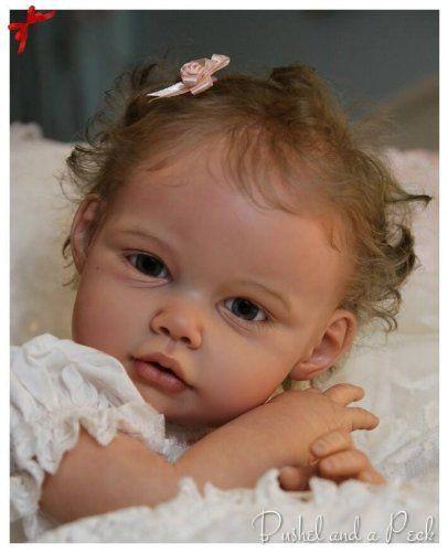 Ella Mae UNFINISHED Toddler Vinyl Doll Kit By Jannie De Lange