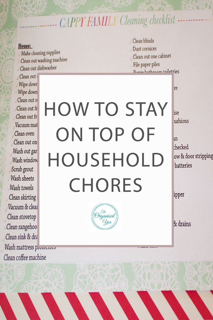 How to stay on top of household chores owning a home can sometimes feel like
