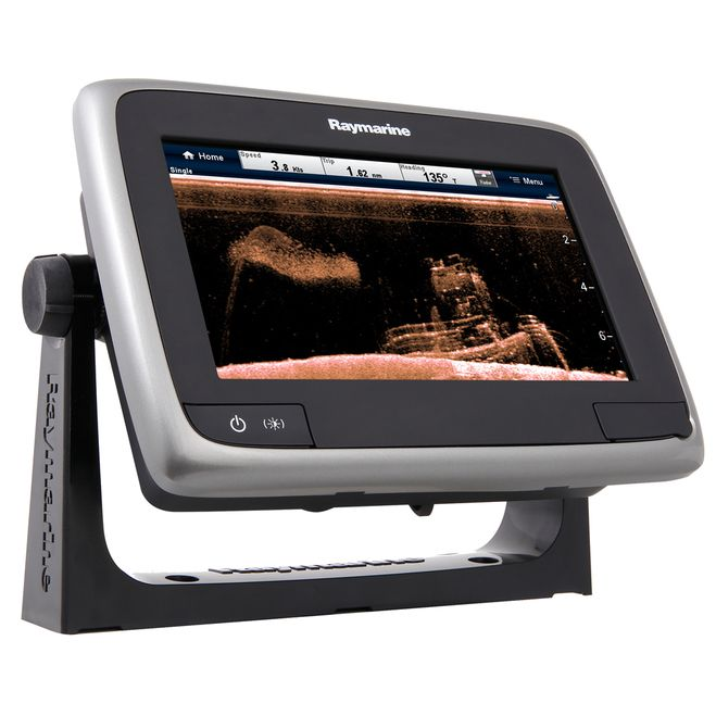 """Raymarine a78 Wi-Fi 7"""""""" MFD w/CHIRP DownVision, ClearPulse&#8482 & CPT-100 - Lighthouse Navigation Charts [E70209-LNC]"""