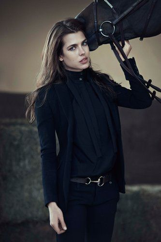 Royal Equestrian to feature the Horse bit design.   Charlotte Casiraghi for Gucci