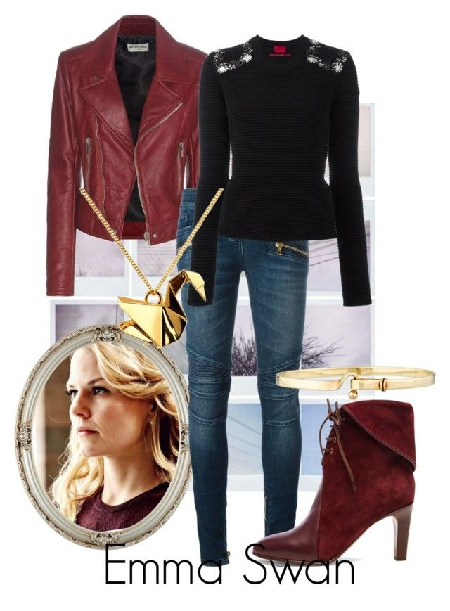 I'm Not Nothing! I Was Never Nothing. by raecycle on Polyvore featuring Moncler Gamme Rouge, Balenciaga, Balmain, Chloé, Origami Jewellery, Tiffany & Co., Once Upon a Time, onceuponatime, ouat and TV