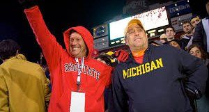 Today is a football rivalry that started because both Michigan and Ohio wanted .... Toledo! Yes, it's actually called the Toledo War. Back in 1835