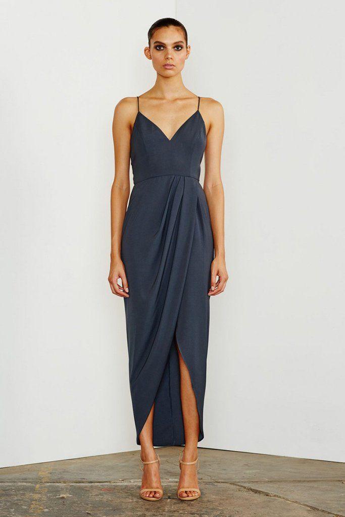 CORE COCKTAIL DRESS - CHARCOAL – Shona Joy