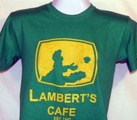 lamberts cafe-- throwed rolls!  Yum. We go every year to visit the cousins.   Really crowded so prepare.