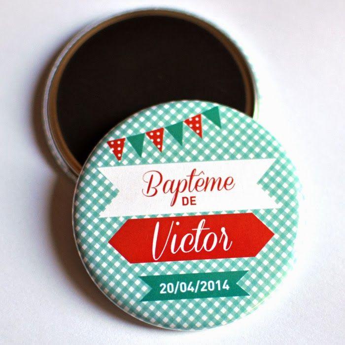 Bulles de Neige, badges personnalisés EVJF / Mariage / Anniversaire: Magnet cadeau invités baptême !