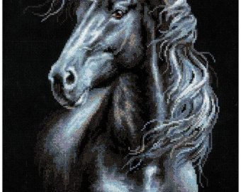 Cross Stitch Kit di Riolis Vento In la criniera  cavallo