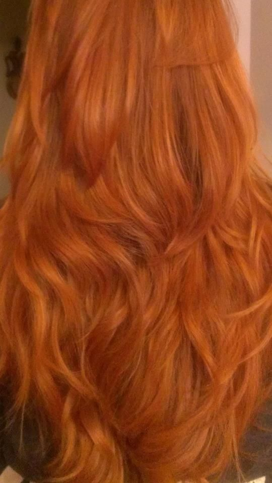 Another pinner: My hair after using the red henna from Lush. Kind of loved it!